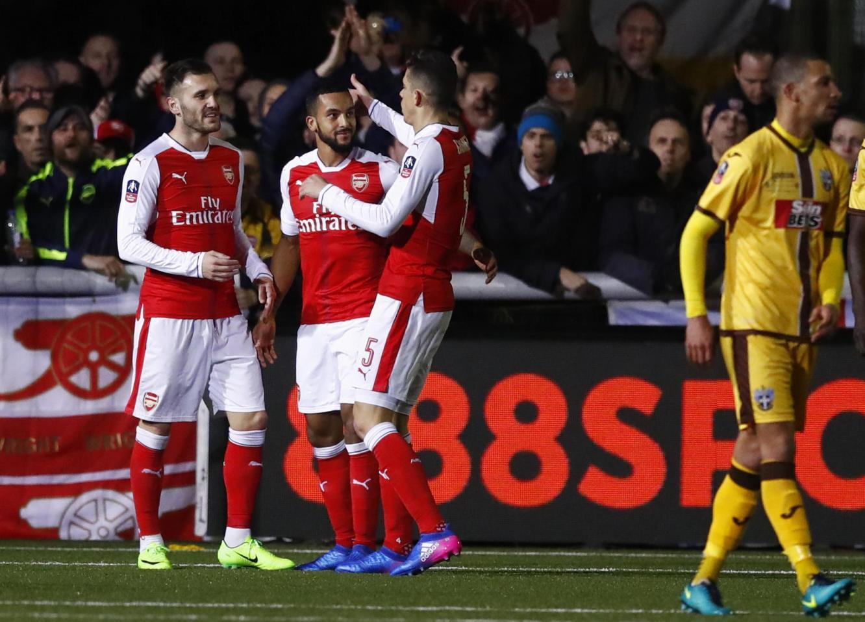 Highlights Sutton Utd 0-2 Arsenal: Ngày vui của Walcott