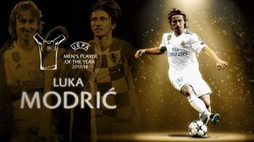 Modric giành giải Cầu thủ xuất sắc nhất năm của UEFA