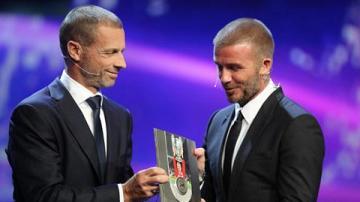 Beckham được vinh danh bằng danh hiệu Chủ tịch UEFA