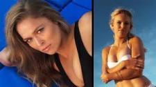 Rousey bán nude 'so găng' với kiều nữ Wozniacki