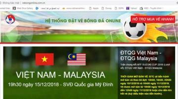 10h sáng nay bán vé online, VFF cảnh báo coi chừng sập bẫy website giả mạo