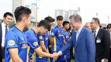 Tổng thống Hàn Quốc chúc mừng Việt Nam vô địch AFF Cup 2018