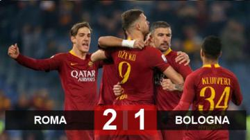 Roma 2-1 Bologna: Thắng nhọc Bologna, Roma áp sát top 4