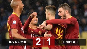 Roma 2-1 Empoli: Chiến thắng đầu tay của Ranieri