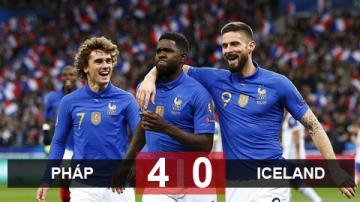 Pháp 4-0 Iceland: Gà trống gáy vang