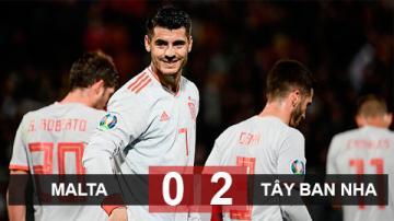 Malta 0-2 Tây Ban Nha: Morata lập cú đúp, Bò tót vững ngôi đầu