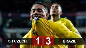 CH Czech 1-3 Brazil: Gabriel Jesus lập công, Brazil ngược dòng thắng CH Czech