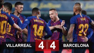 Villarreal 4-4 Barca: Trận cầu điên rồ