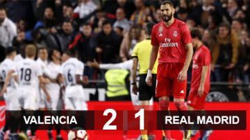 Valencia 2-1 Real Madrid: Kền kền gãy cánh tại Hang dơi