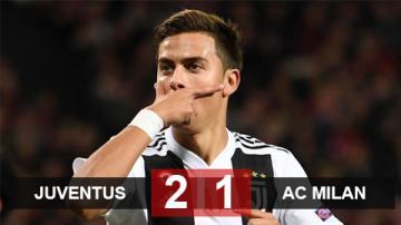 Juventus 2-1 Milan: Chật vật ngược dòng, Juve chạm tay vào Scudetto