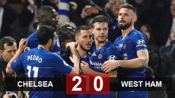 Chelsea 2-0 West Ham: Chelsea vươn lên thứ 3