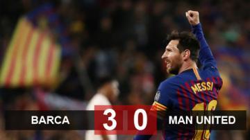 Barca 3-0 M.U (chung cuộc 4-0): Siêu Messi lại gieo ác mộng cho Quỷ đỏ